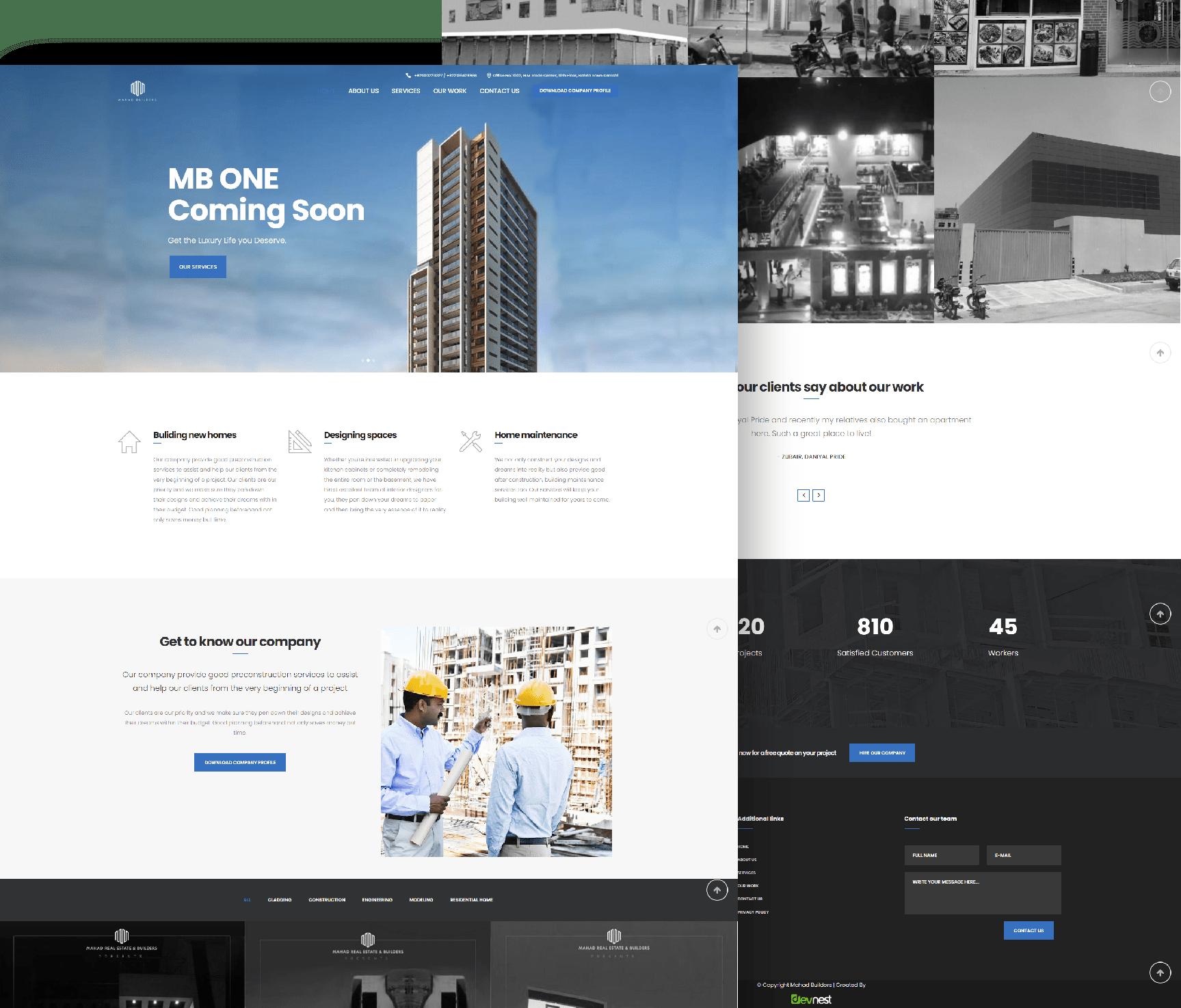 Mahad Builder Website