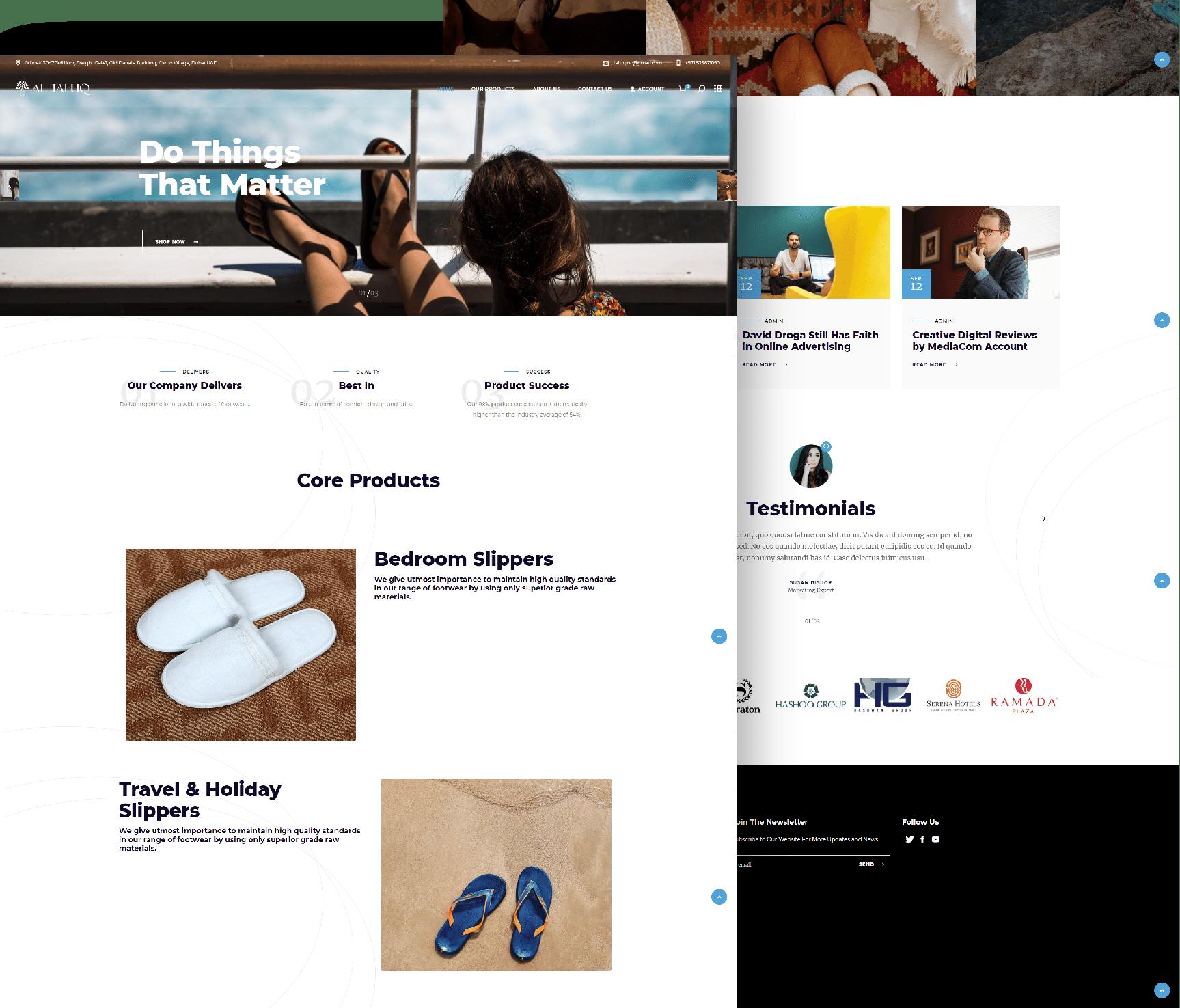 Al Tafuq Traders Website