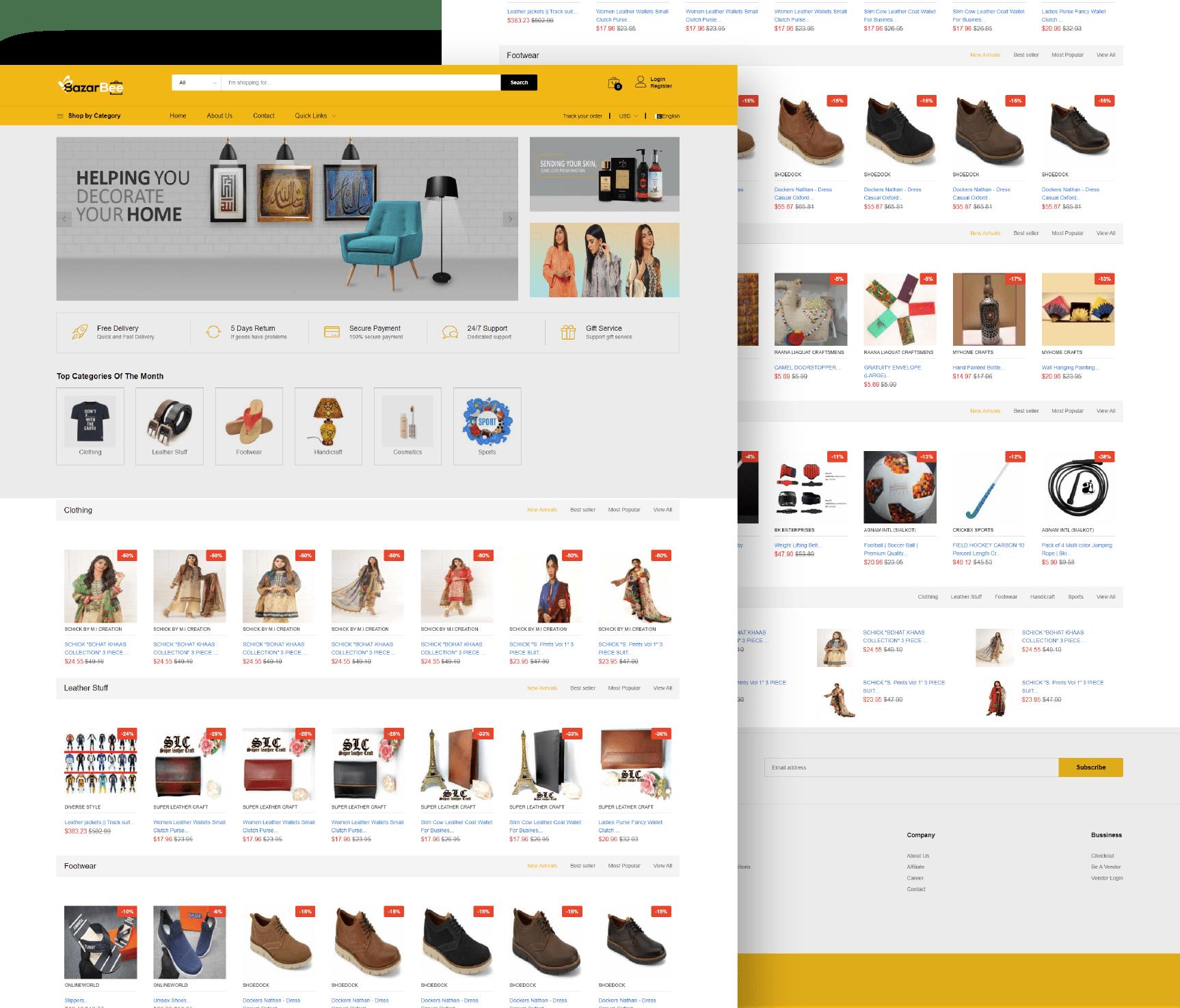 Bazar Bee Website