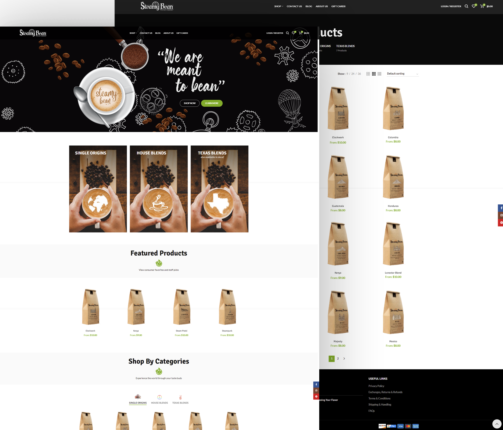 Steamy Bean Website